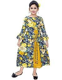 Girls Maxi/Full Length Party Dress(Rust)
