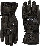 protectWEAR WSG-101-SW-XL Motorradhandschuh aus Leder mit Hartschalenknöchelschutz, Größe XL, Schwarz