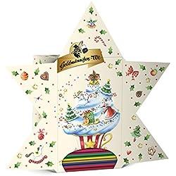 Goldmännchen Estrella de Calendario de Adviento, 24Tipos de té, Sobres de té, Navidad