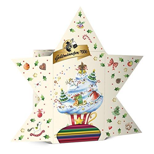 Goldmännchen Stern Advent Calendar, 24 Tea Types, Teabags, Christmas Calendar, Christmas