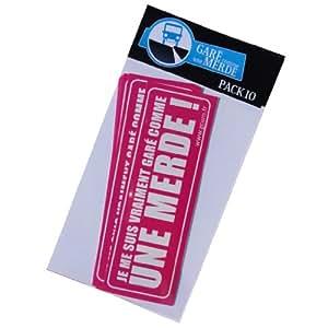 """Autocollant pour véhicules mal garés """"Original"""" - Pack 50 stickers"""