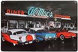 Retro Blechschild Al Macs Diner Nostalgie Metallschild Chevrolet Corvette US Car