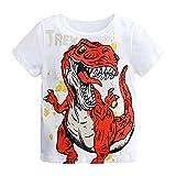 Obestseller Jungenbekleidung,Kleinkind Baby Jungen Kurzarm Cartoon Dinosaur Print Tops T-Shirt Kleidung Kurzärmliges Kinder T-Shirt mit Buchstabendruck,Sommerkleidung