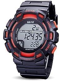 ZHANGZZ Relojes Deportivos Digitales Unisex Step Counter Electronic Watch Deportes Reloj a Prueba de Agua (