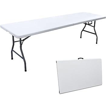 Ray bot tavolo tavolino pieghevole in dura resina 244x76xh74 cm per sagra campeggio fiera casa - Tavolo pieghevole con maniglia ...