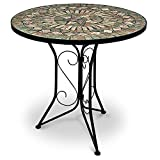 Table Mosaique Ronde Style Salon Marocain Top Deco  Interieur Exterieur