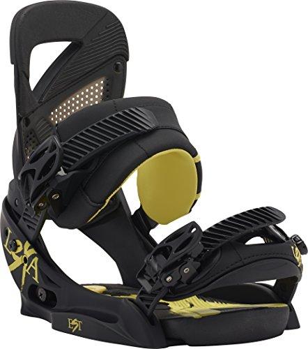 Burton Bindungen lexa est black/yellow - Fijaciones de snowboarding, color negro/amarillo, talla S