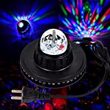 [Spedizione gratuita ~ – 7 – 12 giorni] 8 W LED a comando vocale drehender cristallo Magic Ball Stage Light Club Party BML®//8 W LED Voice Activated Rotating Crystal Magic Ball Stage Light Club Party