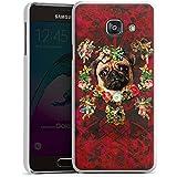 Samsung Galaxy A3 (2016) Housse Étui Protection Coque Fleurs Mopsi ange Carlin Chien