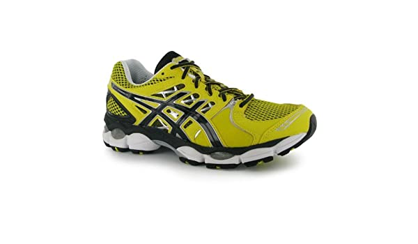 Asics Men Gel Nimbus 14 Mens Running Shoes LemonBlack UK 11