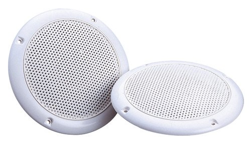 UW191 - E-AUDIO weiß 12,7 cm Dualkonus Feuchtigkeitsresistent Lautsprecher (4OHMS 80 W) 4 Dual Cone