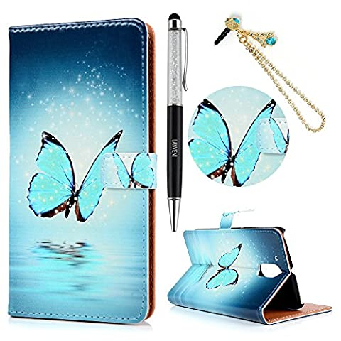 Moto G4 / Moto G4 Plus Case - Lanveni PU Leather Wallet Flip Cover Bookstyle with Printing Design & Magnetic Closure & Card Slots & Stand Function Protective Cover with Dust Plug & Stylus Pen for Motorola Moto G4 / Moto G4 Plus (2016) , Design