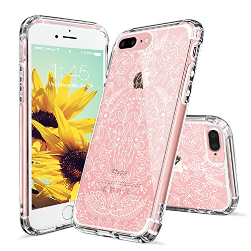Tropical Case for iPhone 7 Plus iPhone 8 Plus White Garden