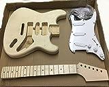Coban Guitars HY180BR Guitare Électrique Kit de Bricolage pour Student and Luthier Projets - BLANC ACCESSOIRE, Full size