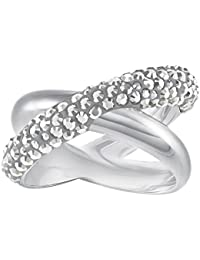 5e068427f87 Swarovski Ring 5372898 Crystaldust Cross Rhodium Plated