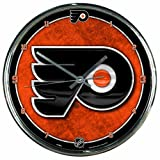 "NHL Philadelphia Flyers Chrome Clock, 12"" x 12"""
