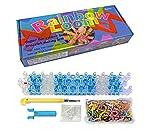 CrazyBuy Rainboow Loom Make Your Own Bracelet Kit - Rubber Bands, Twist, Rainbow