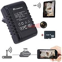 TEKMAGIC 8GB 1280x720P HD Inalámbrica WiFi Cámara Espía Adaptador de Corriente para Interiores Movimiento Activado Grabadora de Vídeo apoyar iPhone Android APP Vista