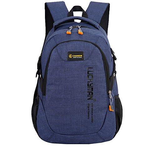 Super moderne Unisexe en nylon Sac à dos d'école sacoche pour ordinateur portable pour adolescents Filles et garçons Cool Sac à dos de sport Sac à dos de voyage pour homme et femme Large noir foncé
