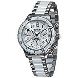 Ingersoll Damen Chronograph Automatik Uhr mit Verschiedene Materialien Armband IN2712WHMB