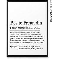 BESTE FREUNDIN Definition ABOUKI Kunstdruck - ungerahmt - Geschenk-Idee Geburtstag Weihnachten Mädelsabend für Freundin Freundinnen Frau DIN A4