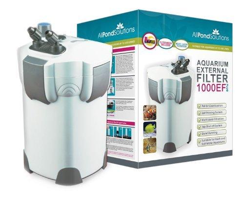 All Pond Solutions Aquarium External Fish Tank Filter 1400L/H Plus 9W UV Light Free Filter Media
