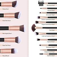 Makeup Brushes BESTOPE Makeup Brush Set Professional 16-Piece Make Up Brushes Premium Synthetic Foundation Brush Blending Face Powder Blush Concealers Eye Cosmetics Make Up Brush Kits