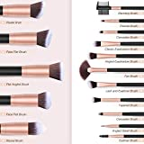 Pennelli Make Up BESTOPE Pennelli per il Trucco Set di 16 Pennelli per il Make-up Professionali, Eyeliner, Ombretto, Sopracciglia