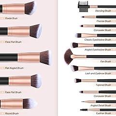 Idea Regalo - Pennelli Make Up BESTOPE Pennelli per il Trucco Set di 16 Pennelli per il Make-up Professionali, Eyeliner, Ombretto, Sopracciglia