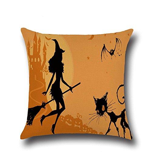Inovey Halloween Dark Hexe Muster Kissenbezug Baumwolle Leinen Throw Kissen Kissen Abdeckung Sitz Home Dekoration - 6