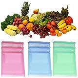 VD Sales, (Pack Of 12) Multi-purpose Vegetables Fruits Mesh Fridge Storage Washable Zip Bags