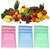 #9: VD Sales, (Pack Of 12) Multi-purpose Vegetables Fruits Mesh Fridge Storage Washable Zip Bags