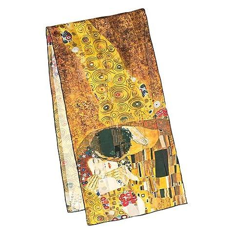 VON LILIENFELD Seidenschal lang, (Satin) Gustav Klimt: