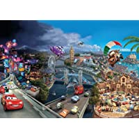 Cars World – Disney carta da parati fotografica – Wall Paper – Mural 368 x 254 cm – 8 pezzi. Una confezione di colla e una guida. appianati - Disney World Photo