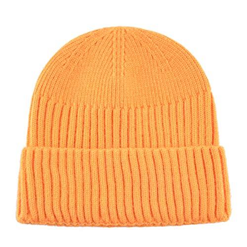 Unexceptionable-Beanie Hat Fashion Skullies Beanies Herren olid Farbe Strickmützefür Damen 13 Farben Stricken Skullcap Streetwear Gorras ToucaTMB24 @ Yellow -