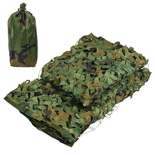 Latinaric Red de Camuflaje para Militar Cámping Caza Disparo Esconder Víspera de Todos los Santos Fiesta Decoración, 2x3m/3x4m