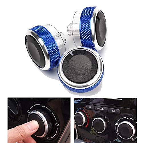HANO 3Pcs / Set Auto-Klimaanlage Drehschalter Drehknopf für Ford Focus 2 Focus 3 Mondeo Car Styling Automobiles AC Knob Ersatz: -