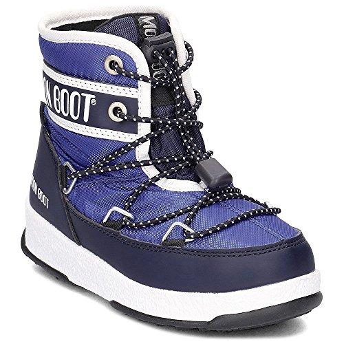 MOON BOOT Junior-Schuhe MOON BOOT WE JR MID WP WP 34051200002 Größe 32 Blu navy (Junior-schneeschuhe)