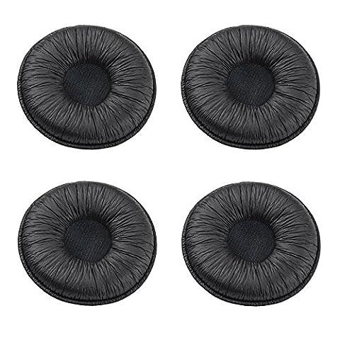 Bingle Coussinets de rechange en similicuir de rechange pour Plantronics Supra Plus encore et la plupart des casques Taille standard Bureau Téléphone H251H251N H261H261N H351H351N H361H361N (Lot de 4) (bec-lth4)