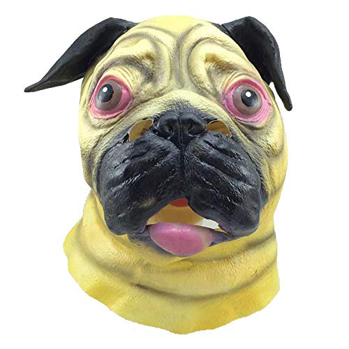 Maske Shar Pei Spiritual Pollution Cos lästige Hund Kopfbedeckung Halloween Horror Erwachsene lustige Latex