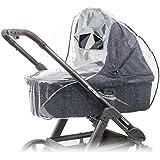 Habillage pluie confort universel pour landau, nacelle (par ex : Bébé confort, Cybex) | bonne circulation de l'air, fenêtre de contact avec auvent, montage facile, sans PVC.