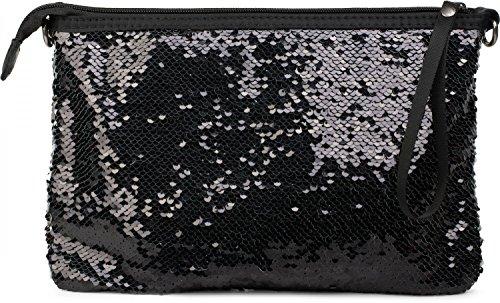 styleBREAKER, Poschette giorno donna nero nero/bianco taglia unica nero/bianco