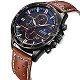 Uhr,Herrenuhren, Armbanduhr für MensLässig Classic Edelstahl Fall Einzigartige Quarz Analog Business Uhr