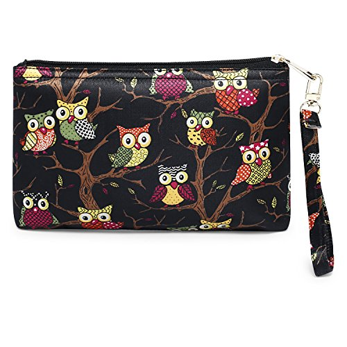 Scoopstreet Women's Cosmetic Bag(Multi-Coloured,22052A Black-Multi)