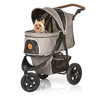 TOGfit Pet Roadster - Luxury Pet Stroller for Puppy, Senior Dog or Cat | Easy Foldable Three Wheels Travel Pet Jogger… 7