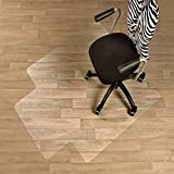 Etm Alfombrilla premium con borde para sillas, protección de suelos duros, policarbonato 100% puro, material no reciclable, transparente y de alta resistencia al impacto., plástico, 90 x 120 cm (with Lip)
