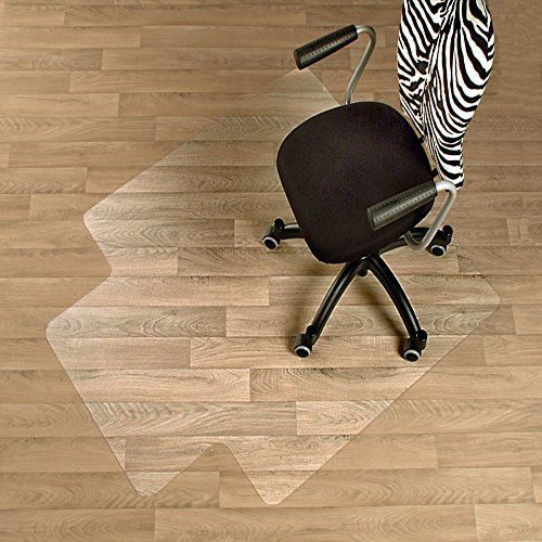 Floor Für Bürostuhl Protector (etm Premium Bodenschutzmatte mit Lippe–Hard Floor Schutz–100% reines Polycarbonat, kein Recycling-Material, äußerst stoßfest, Transparent, Polycarbonat, 90 x 120 cm (with Lip))