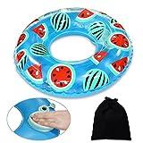 Onlydroid Schwimmring Schwimmhilfe für Kinder 3-6 Jahre Druck zum Aufblasen Wassermelone Schwimmreifen 60CM MEHRWEG