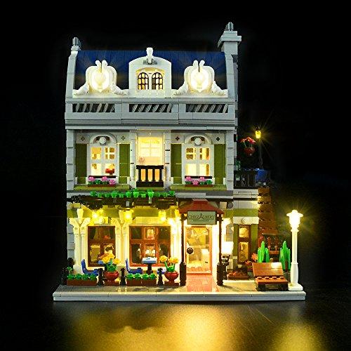 Conjunto de luces Lightailing para (Creator Restaurant parisien) Modelo de Construcción de Bloques - Kit de luz LED compatible con Lego 10243 (NO incluido en el modelo)