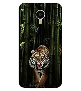 ColourCraft Roaring Tiger Design Back Case Cover for MEIZU M3 NOTE